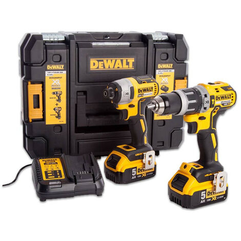 DeWalt DCK266P2T XR Brushless Twin Pack 18 Volt 2 x 5.0Ah Li-Ion
