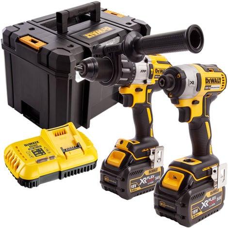 Dewalt DCK276T2T 18V Brushless Twin Pack 2 x FLEXVOLT 6.0Ah Batteries & Charger