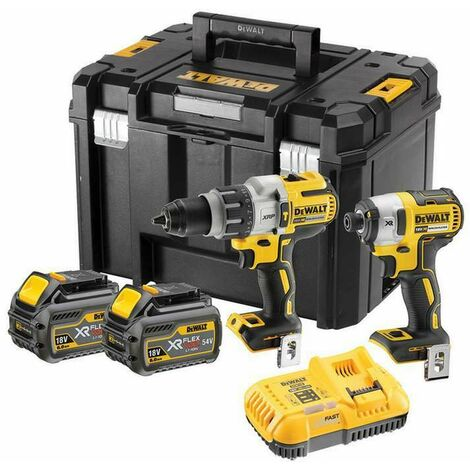 DeWalt DCK276T2T XR 18V Flexvolt Brushless Twin Kit with 2x 6.0Ah Batteries