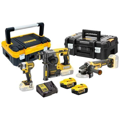 DeWALT DCK305P2T 18v Brushless Triple Kit 2 x 5ah Batteries & T-STAKS