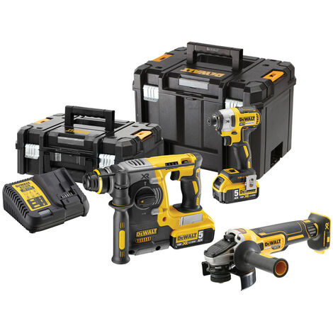 Dewalt DCK305P2T 18V Li-ion Brushless 3 Piece Kit 2 x 5.0Ah Batteries