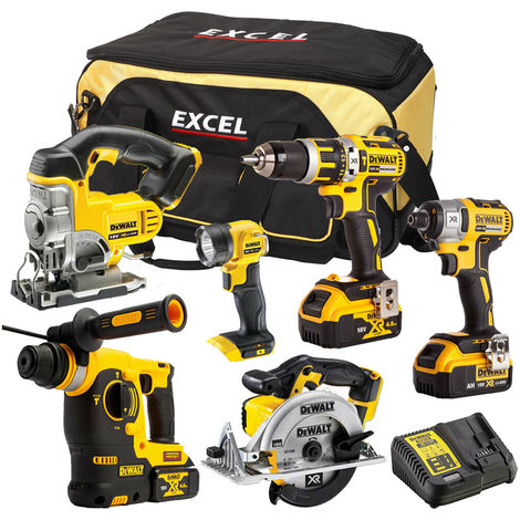 DeWalt DCK309BP2T 6 Piece Power Tool Kit 18V