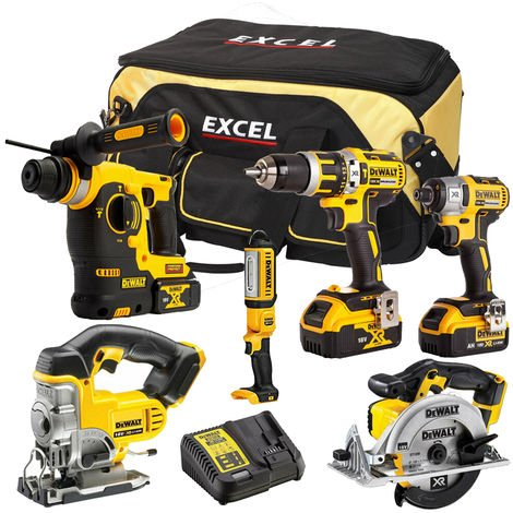 DeWalt DCK312BP3T 6 Piece Power Tool Kit 18V
