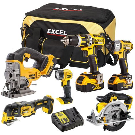 DeWalt DCK314BP2T 6 Piece Power Tool Kit 18V