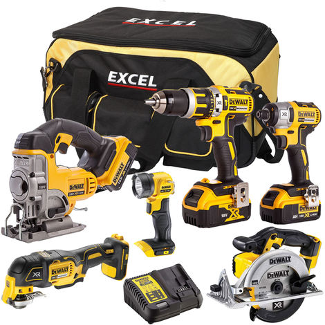 DeWalt DCK315BP2T 6 Piece Power Tool Kit 18V