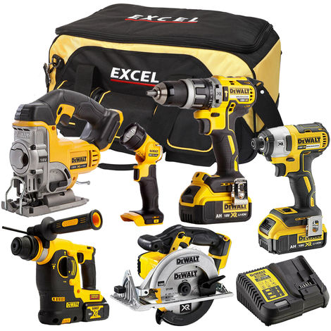 DeWalt DCK316BP2T 6 Piece Power Tool Kit 18V