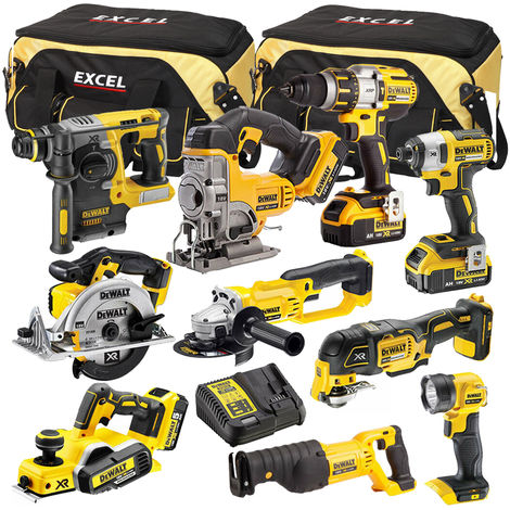 DeWalt DCK321BP2T 10 Piece Power Tool Kit 18V