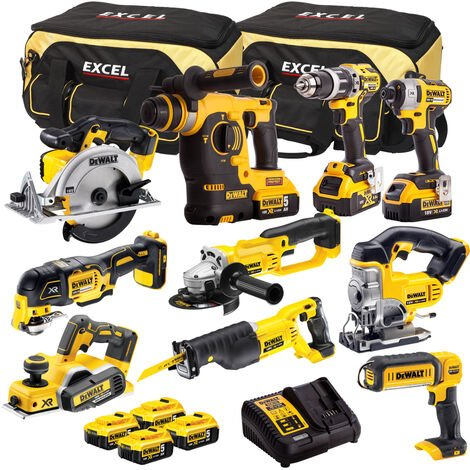DeWalt DCK322BP2T 10 Piece Power Tool Kit 18V