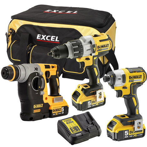 DeWalt DCK368BP3T 18V 3 Piece Brushless Power Tool Kit