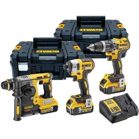 Dewalt DCK368P3T 18v XR Brushless Kit - DCD796 Drill DCF887 Impact DCH273 SDS