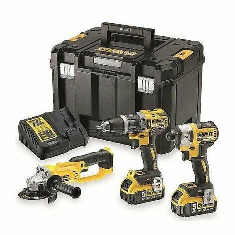 DeWalt DCK383P2T 18V 3 Piece Tool Kit with 2x 5.0Ah Batteries