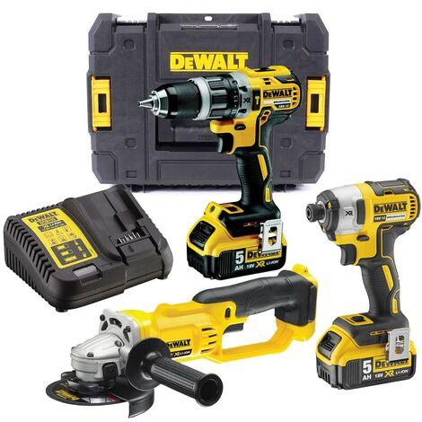 Dewalt DCK383P2T 18v XR Brushless Kit DCD796 Drill DCF887 Impact DCG412 Grinder