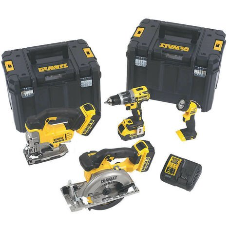 DeWalt DCK457M3T XR 18V 4 Piece Woodworking Kit with 3x 4.0Ah Batteries