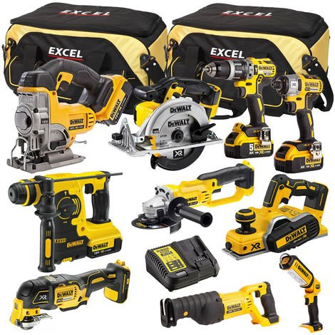 DeWalt DCK660B3T3 10 Piece Power Tool Kit 18V