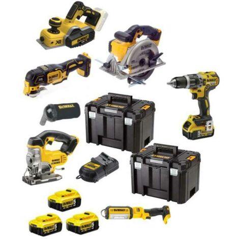 Dewalt DCK665P3T 18V Cordless 6 Piece Kit - 3 x 5.0Ah Batteries