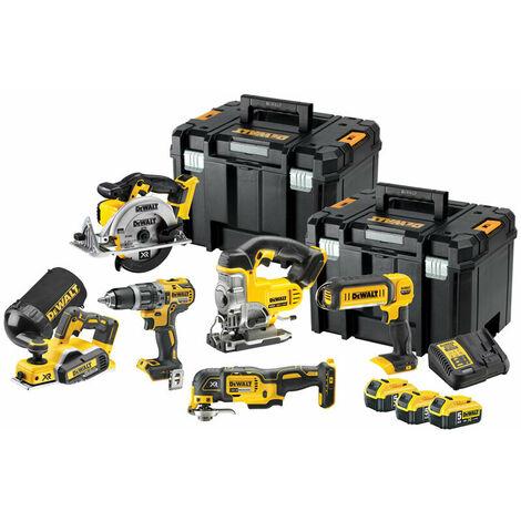 DeWalt DCK665P3T 18V XR 6 Piece Power Tool Kit 3 x 5.0Ah