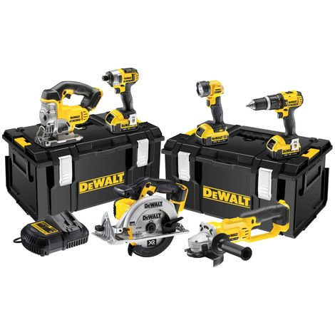 Dewalt DCK691M3 18V XR 6-Piece 3 x 4AH Batteries + 2 x TOUGHSYSTEM Kitbox