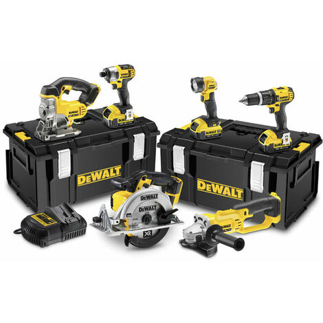 DeWALT DCK691M3-GB 18V XR 6 Piece Kit (2 Speed) With 3x 4ah Batteries