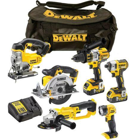 """main image of """"Dewalt DCK694P3 XR Cordless 18v Brushless 6 Piece Kit 3 x 5.0ah Batteries + Bag"""""""