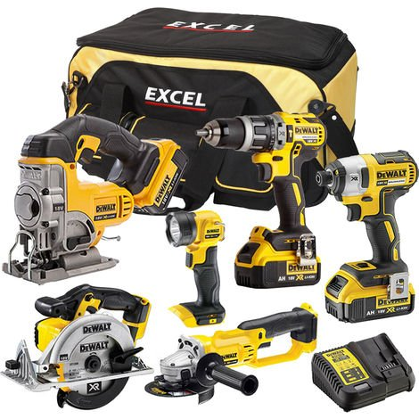 DeWalt DCK697BT4 6 Piece Power Tool Kit 18V