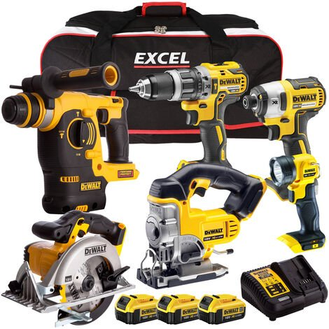 Dewalt DCK699M3TB 18V 6 Piece Combo Kit with 3 x 4.0Ah Batteries Charger & Bag