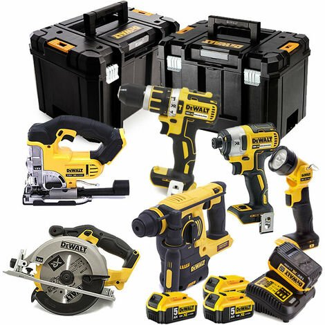 Dewalt DCK699P4T 6 Piece Cordless Kit 4 X 5.0AH Batteries