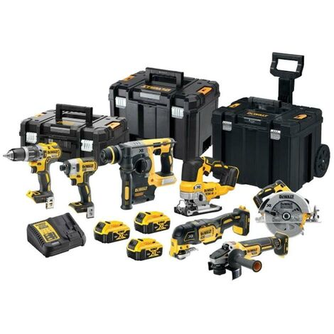 DeWALT DCK755P3T 18v Brushless XR TSTAK Kit 7 Piece Drill & Hammer Kit