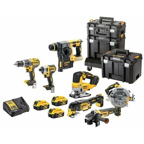 Dewalt DCK755P3T Cordless 18v 7 Piece Tool Kit + 3 x 5.0ah Batteries Charger