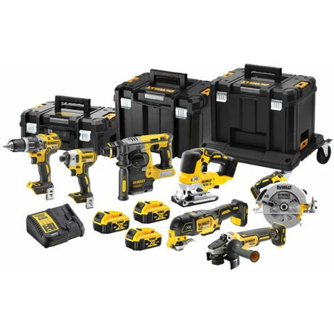 Dewalt DCK755P3T XR Li-Ion Brushless 18V 3 x 5.0Ah 7 Piece Kit:18V