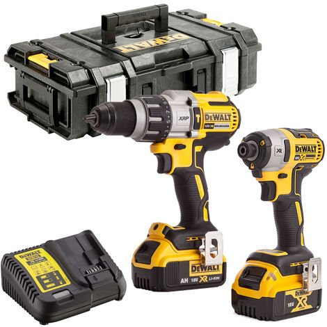 DeWalt DCK9688M2 18V Brushless Combi Drill & Impact Driver Kit 2 x 4.0Ah Batteries
