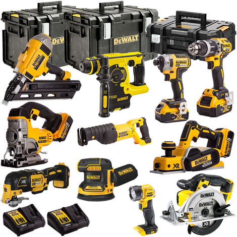 DeWalt DCKKIT11A 18V XR 11 Piece with 4 x 5.0Ah Li-ion KIT:18V