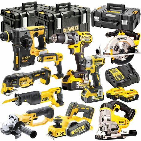 Dewalt DCKT4T10P4 18V 4 x 5.0Ah Batteries XR Li-Ion 10 Piece ToughSystem Kit
