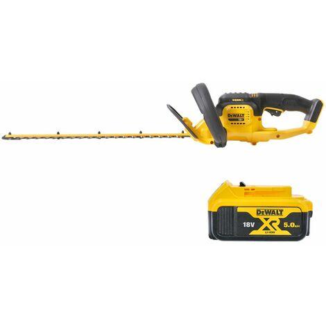 DeWalt DCM563 18V XR Hedge Trimmer Cutter With 1 x 5.0Ah Battery