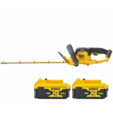 DeWalt DCM563 18V XR Hedge Trimmer Cutter With 2 x 5.0Ah Batteries
