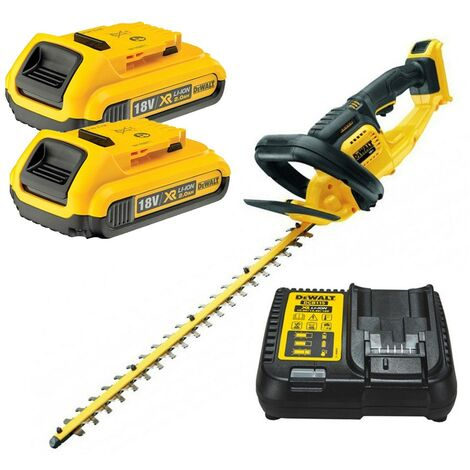 Dewalt DCM563D2 18v Cordless Hedge Trimmer Cutter + 2 x 2.0ah Battery + Charger
