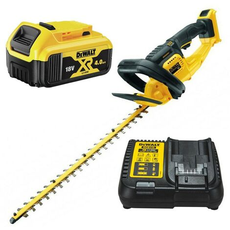 Dewalt DCM563M1 18v Cordless Hedge Trimmer Cutter + 1 x 4.0ah Battery + Charger