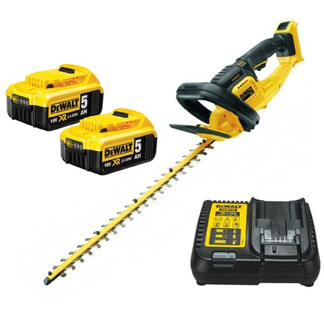 Dewalt DCM563P2 18v Cordless Hedge Trimmer Cutter + 2 x 5.0ah Battery + Charger