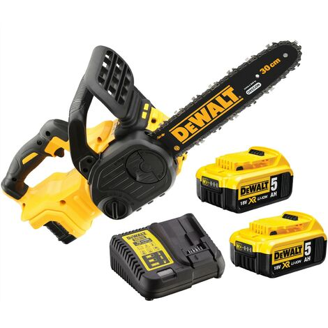 Dewalt DCM565P2 18v XR 30cm Cordless Chainsaw Brushless - 2 x 5.0ah Batteries