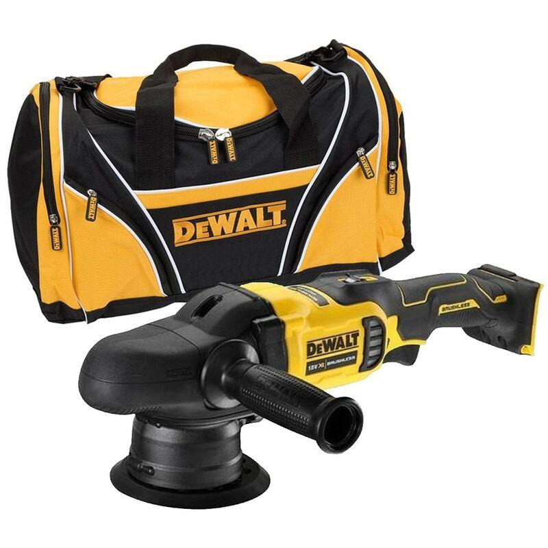 Dewalt DCM848N 18v Brushless Dual Action Polisher 125mm Bare Unit + Tool Bag