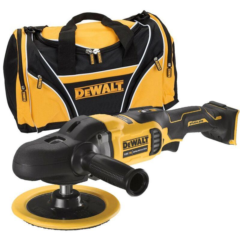 Dewalt DCM849N 18v Brushless XR Rotary Polisher 180mm Bare Unit + Tool Bag