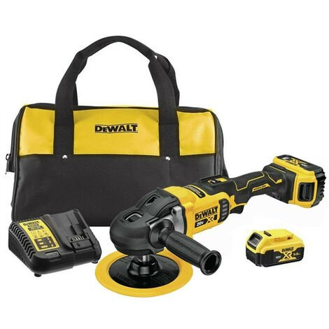 """main image of """"Dewalt DCM849P2-GB 18V Brushless XR Rotary Polisher With 2 x 5.0Ah Batteries Charger & Bag"""""""