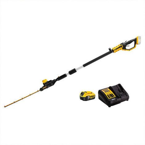 DeWalt DCMPH566P1-GB XR 18V Pole Hedge Trimmer 1x 5.0Ah Battery
