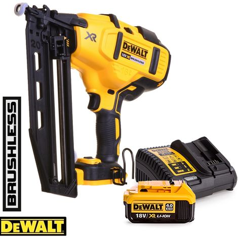 DeWalt DCN660 18V XR Brushless Second Fix Nailer With 1 x 4.0Ah Battery & Charger