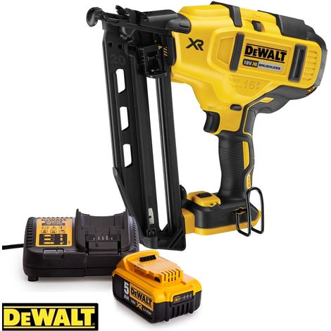 DeWalt DCN660 18V XR Brushless Second Fix Nailer With 1 x 5.0Ah Battery & Charger