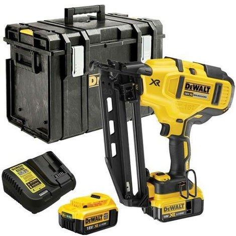 DeWalt DCN660N 18V Brushless Nailer with 2 x 4.0Ah Batteries & Charger in Case