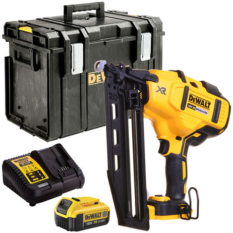 DeWalt DCN660N 18V Brushless Second Fix Nailer with 1 x 4.0Ah Battery Charger & Case