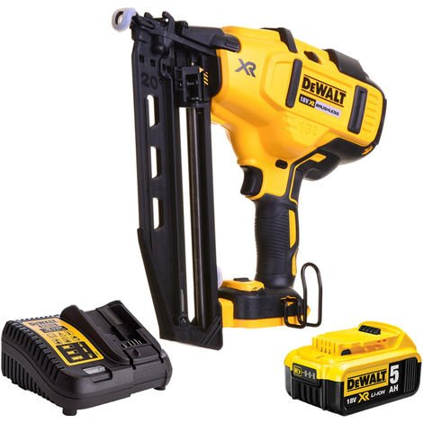 DeWalt DCN660N 18V Brushless Second Fix Nailer with 1 x 5.0Ah Battery & Charger