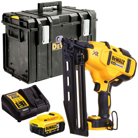 DeWalt DCN660N 18V Brushless Second Fix Nailer with 1 x 5.0Ah Battery Charger & Case