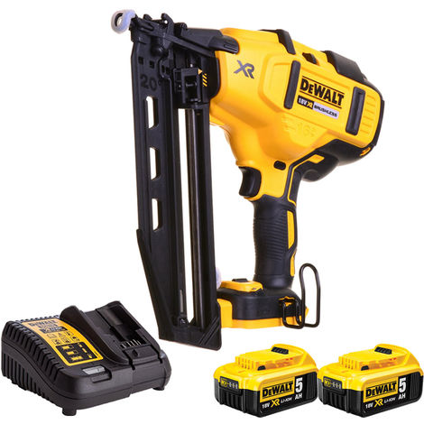 DeWalt DCN660N 18V Brushless Second Fix Nailer with 2 x 5.0Ah Batteries & Charger