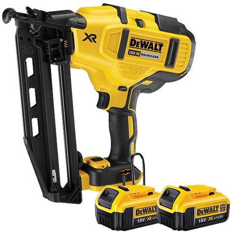 DeWalt DCN660N 18v XR Brushless Fix Nailer With 2 x 4.0Ah Batteries